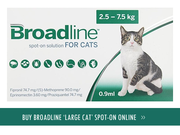 Broadline for cats - Broadline spot-on solution flea & tick treatment